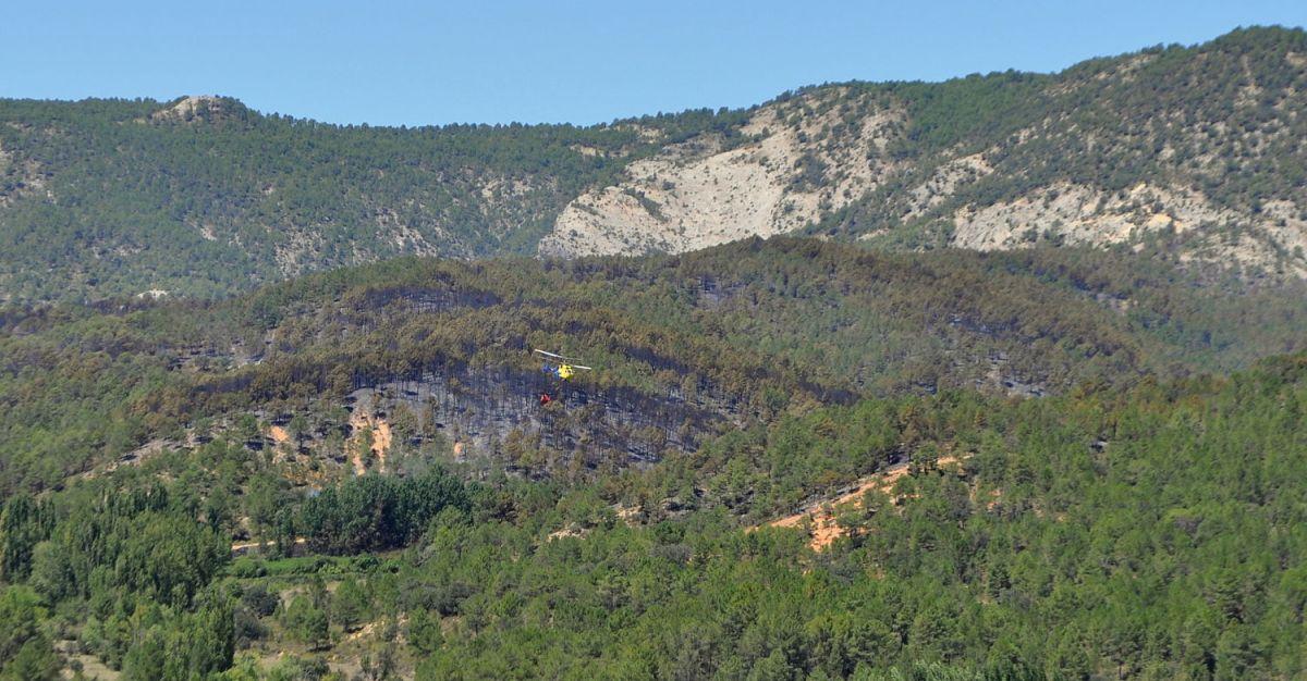El incendio de Cañamares ha calcinado 185 hectáreas de una zona protegida para aves