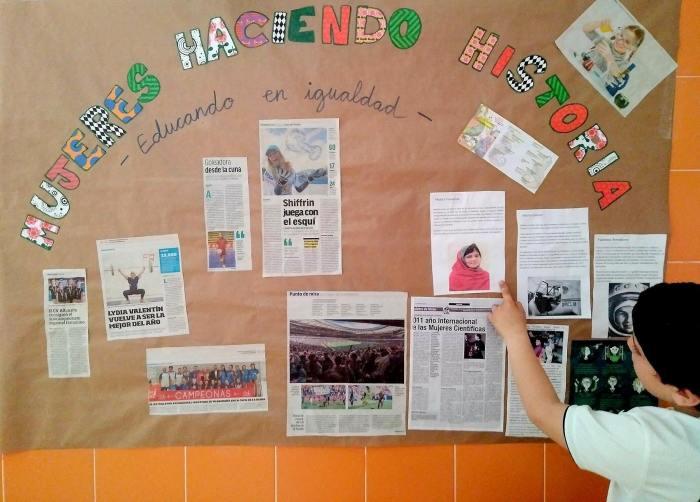 mural colegio igualdad mujeres
