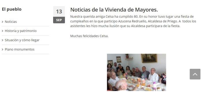 comunicado alcaldesa cumpleaños página web